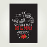 Christmas restaurant and party menu, invitation. Royalty Free Stock Photo
