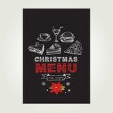 Christmas restaurant and party menu, invitation. Royalty Free Stock Photo