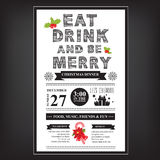 Christmas restaurant and party menu, invitation. Royalty Free Stock Photography