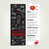 Christmas restaurant and party menu, invitation. Stock Photos