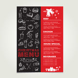 Christmas restaurant and party menu, invitation. Stock Images