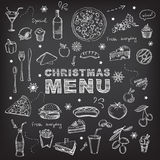 Christmas restaurant and party menu, invitation. Stock Photography