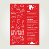 Christmas restaurant and party menu, invitation. Stock Photo