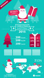 Christmas retails and Business info graphics. Stock Images