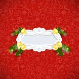 Christmas Retro Background. With banner. Vector illustration Stock Images