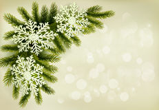 Christmas retro background with christmas tree Royalty Free Stock Image