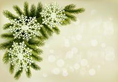 Christmas retro background with christmas tree Royalty Free Stock Image