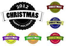 Christmas retro badge Royalty Free Stock Image