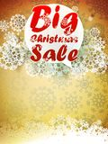 Christmas retro Big Sale with copy space. Royalty Free Stock Photography