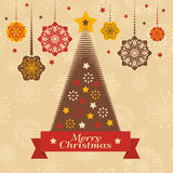 Christmas retro card Stock Photography
