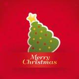 Christmas retro card Royalty Free Stock Photography