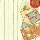 Christmas Retro Card Stock Photos