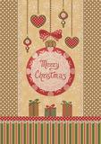 Christmas retro card Royalty Free Stock Photos