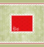 Christmas retro card, ornamental design elements Royalty Free Stock Photo
