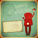 Christmas Retro card with Santa Claus Royalty Free Stock Photos