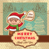 Christmas retro card Royalty Free Stock Images