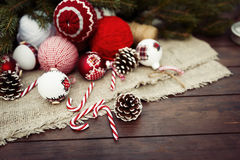 Christmas retro composition Royalty Free Stock Photography