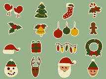 Christmas retro design elements Royalty Free Stock Photography