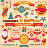 Christmas retro elements Royalty Free Stock Image