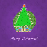 Christmas Retro Greeting Card Royalty Free Stock Photo