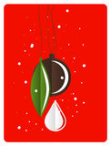 Christmas retro greeting card with decoration Stock Image