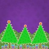 Christmas Retro Greeting Card Royalty Free Stock Photo
