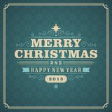 Christmas retro greeting card  illustration Royalty Free Stock Images