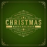 Christmas retro greeting card vector illustration Royalty Free Stock Photography