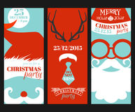 Christmas Retro Party Cards Royalty Free Stock Image