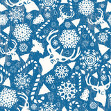 Christmas retro pattern Royalty Free Stock Images