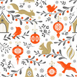 Christmas retro pattern stock photo