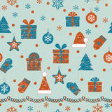 Christmas Retro Pattern Stock Images