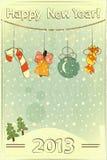 Christmas retro postcard Stock Photos