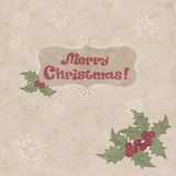 Christmas retro postcard Royalty Free Stock Photo