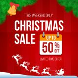 Christmas retro sale banner Stock Images
