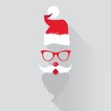 Christmas Retro Santa Card Stock Photography