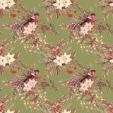 Christmas retro seamless pattern Stock Images
