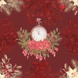 Christmas retro seamless pattern Stock Images