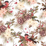 Christmas retro seamless pattern Royalty Free Stock Photo
