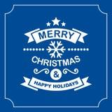 Christmas Retro Typographic Background. Vector Stock Image