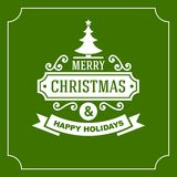 Christmas Retro Typographic Background. Vector Stock Images