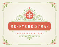 Christmas retro typographic and flourishes Royalty Free Stock Images