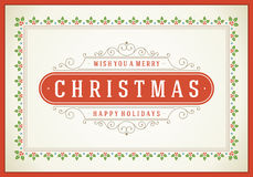 Christmas retro typographic and flourishes Stock Image