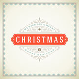 Christmas retro typographic and flourishes Stock Photography
