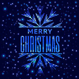 Christmas retro typographic and light background. Merry Christma Royalty Free Stock Photo