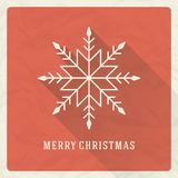 Christmas retro typographic and ornament Royalty Free Stock Photo