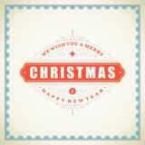 Christmas retro typographic and ornament Royalty Free Stock Images