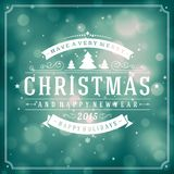 Christmas retro typography and light background Stock Photography