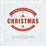 Christmas retro typography and light with Royalty Free Stock Images