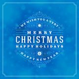 Christmas retro typography and light with Stock Image